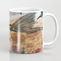 literary Mugs featuring Literary Flying Fish by Sarah Sutherland