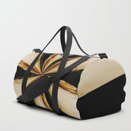 Black, White and Gold Star Duffle Bag