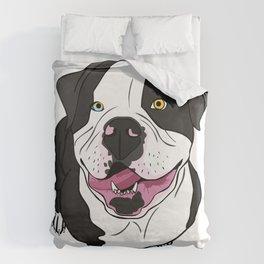 Bubba, the American Bulldog Duvet Cover
