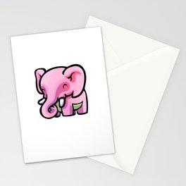 Pink Gorilla X Enfu Elephant Stationery Cards