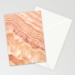 Champagne onyx marble Stationery Cards
