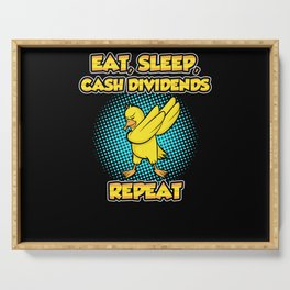 Dab Dabbing Dividends Duck Off Share Loves Serving Tray
