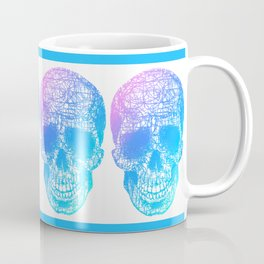 Scribble Skull Coffee Mug