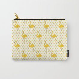 Yellow Flamingo  - Bird Carry-All Pouch