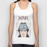 sherlock Tank Tops featuring Sherlock by enerjax