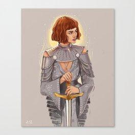 'Joan of Arc' / Zendaya Canvas Print