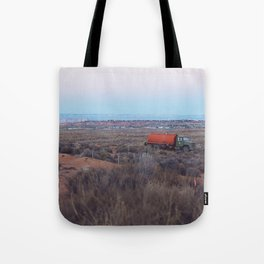 Pastel Sunsets in the Desert, Plus Truck Tote Bag