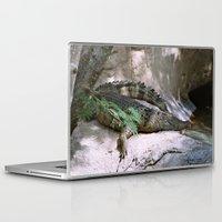 crocodile Laptop & iPad Skins featuring crocodile by lennyfdzz