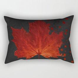 Maple Leaf Dispersion Effect Rectangular Pillow
