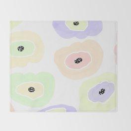 Sherbet candies, pastel random shapes Throw Blanket