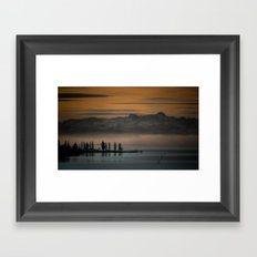 Breakfast TV Framed Art Print