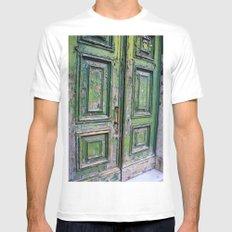 Green Door 3 Mens Fitted Tee White MEDIUM