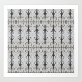 Grey Shibori Art Print