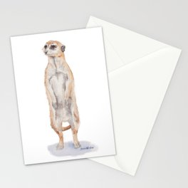 Meerkat Watercolor Painting Stationery Cards