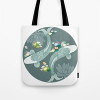 koi Tote Bags featuring Koi by Amanda Dilworth