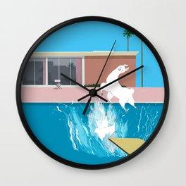 Bigger Splash Llama Wall Clock