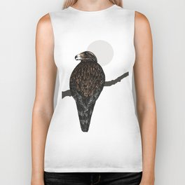Art print: The buzzard on a branch Biker Tank