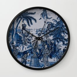 17th Century Delftware Chinoiserie Wall Clock