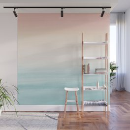Touching Watercolor Abstract Beach Dream #3 #painting #decor #art #society6 Wall Mural