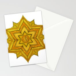 Golden Flower Stationery Cards