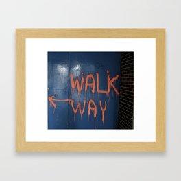 Walk That Way Framed Art Print