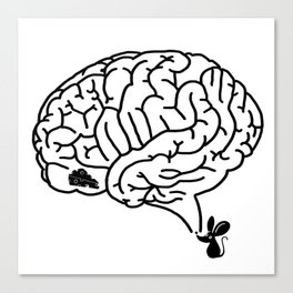 Brain Labyrinth Canvas Print