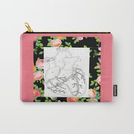 floral heart Carry-All Pouch