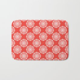 Kitchen cutlery red Bath Mat