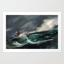 Pirate of the caribbean Art Print
