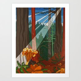 The Golden Chanterelle Art Print