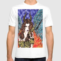 angel or demon in color Mens Fitted Tee White MEDIUM