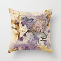 koala Throw Pillows featuring KOALA by hoploid