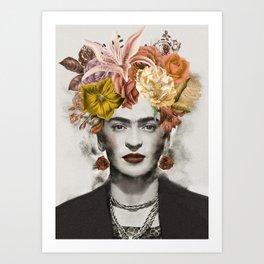 FRIDA FLOWERS Art Print