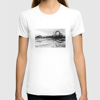 santa monica T-shirts featuring Los Angeles Santa Monica Pier by VICIT