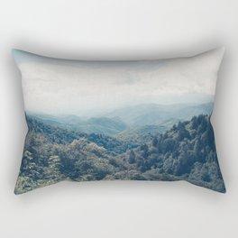 misty mountain morning Rectangular Pillow