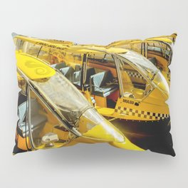 Yellow Taxi Boats Pillow Sham