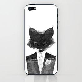 minima - dapper fox   noir iPhone Skin