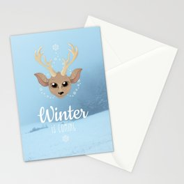 Snow Deer Stationery Cards