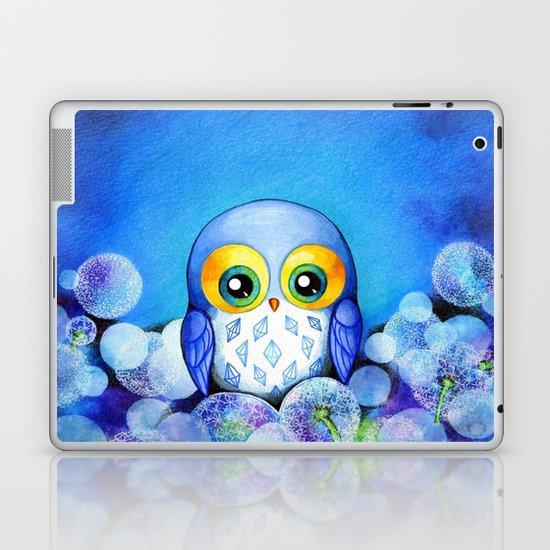 Lunar Owl in Dandelion Field Laptop & iPad Skin