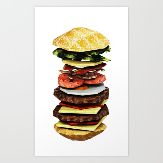Graphic Burger Art Print