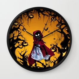 Red Riding Hood Nightmare Wall Clock