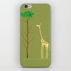 tree v giraffe iPhone Skin