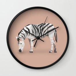 Zebra. Wall Clock