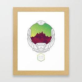 Helmet III (Green Space) Framed Art Print