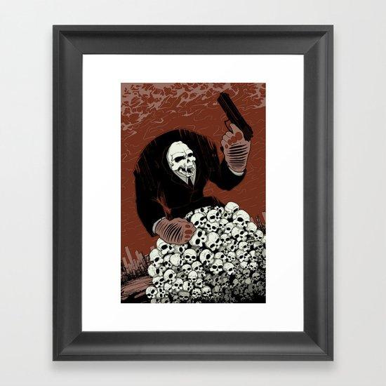 Monkey Skull Suit Framed Art Print