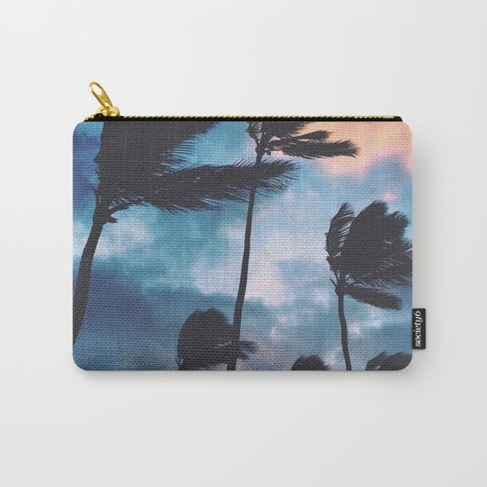 Palm trees at sunset Carry-All Pouch