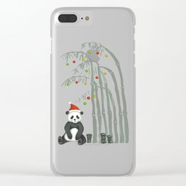 Christmas Panda Clear iPhone Case