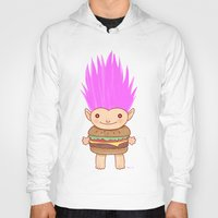 hamburger Hoodies featuring  Hamburger Troll by Noel ILL