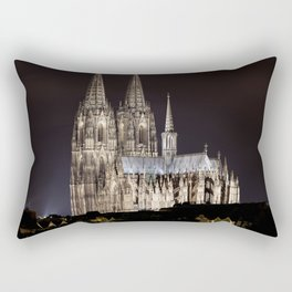 Cologne Cathedral By Night Rectangular Pillow