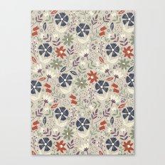 Retro Flora Canvas Print